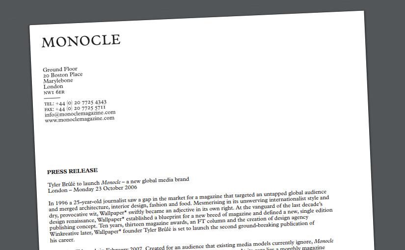 Tyler Brûlé sacará una nueva revista llamada Monocle