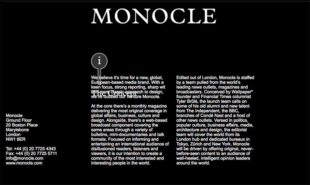 monocle website