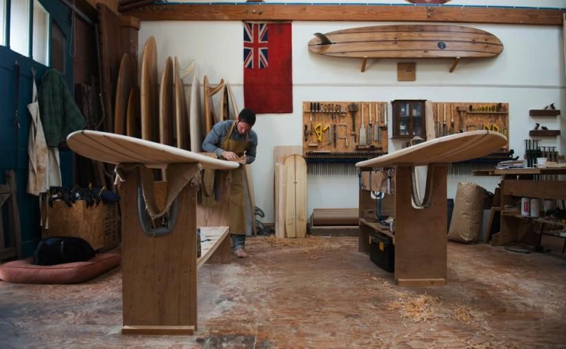 Fom English hand-made surfboards…